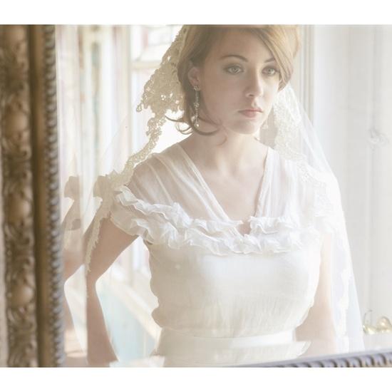 Impossibly romantic. Lace Bridal Cap Mantilla Alencon Lace Veil 730. $590.00 USD.