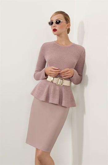 St. John Collection Sweater, Skirt & Belt