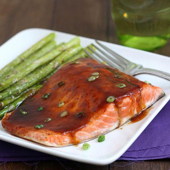 Pan Seared Salmon with Asian Barbecue Glaze