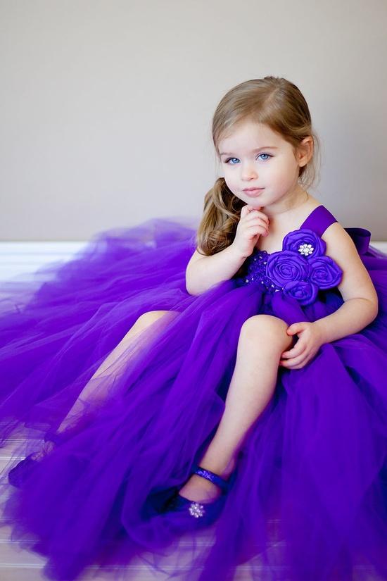 Tutu Dress in Purple Couture