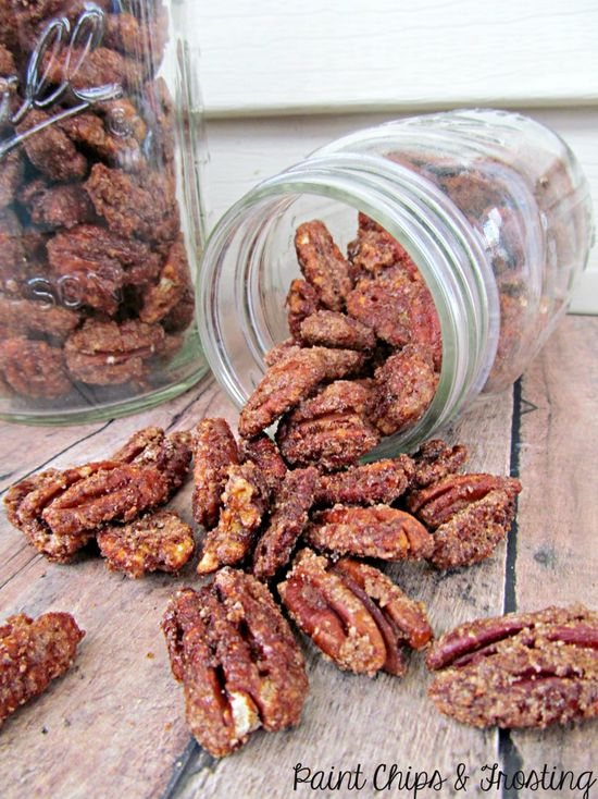 Candied Pecans as a DIY gift for Father's Day! paintchipsandfros... #diygifts #fathersday #candiednuts
