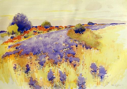 Flowering Field, Arthur Dow 1895