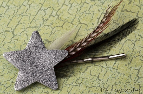 Boho Bobby Pin - Shooting Star with Feather Trail