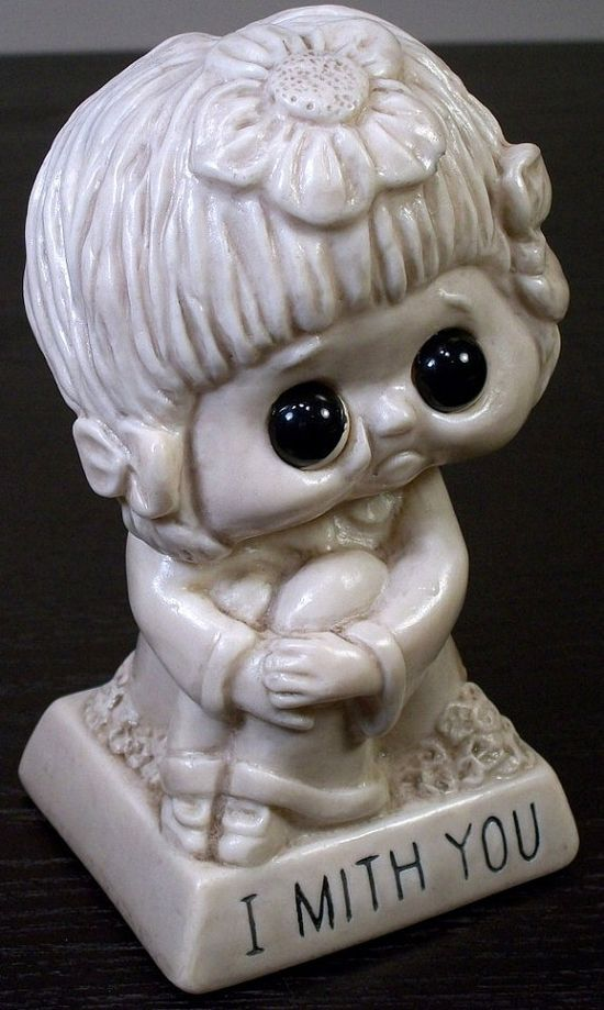 Figurine 1973 Faux Stone-look Collectible Child 9073