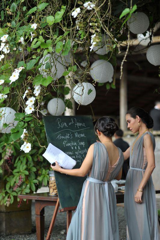 vines. chalkboard. dresses. all nice.