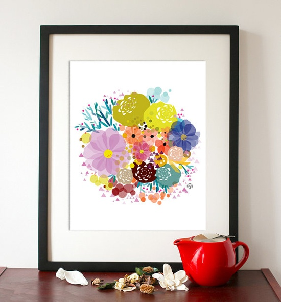 Spring Awakening - Flower Bloom - 8 1/2x11 Art print. $20.00, via Etsy.