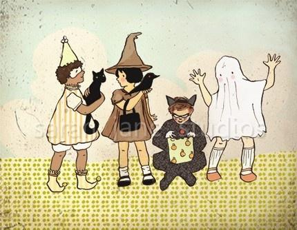 sweet halloween print by sarah jane