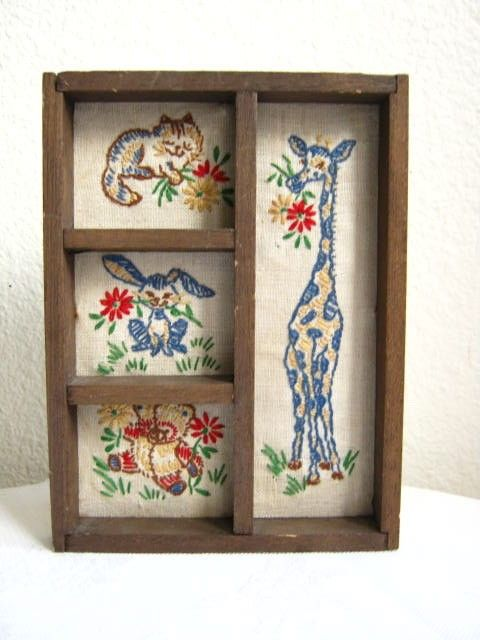 Vintage embroidery animals