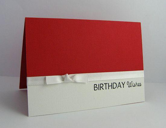 Birthday Wishes - Handmade card by JessHolland, via Flickr