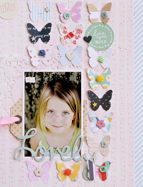 #papercraft #scrapbook #layout Corrie Jones - Lovely