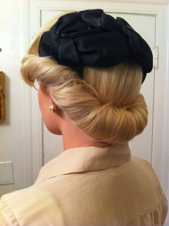 The perfect updo for a hat!