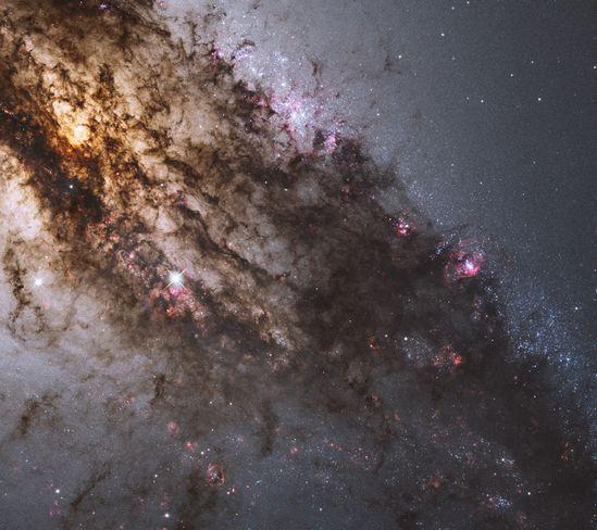 Across the Center of Centaurus A