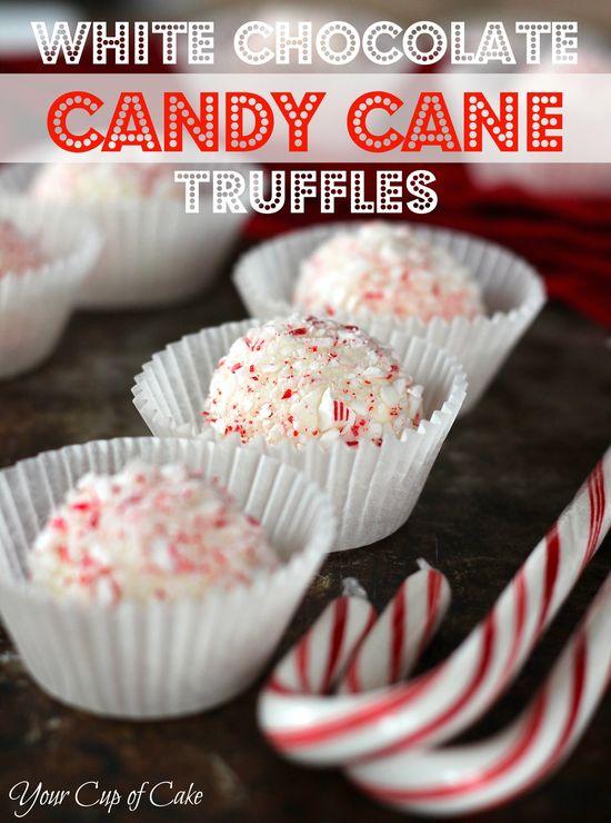 White Chocolate Candy Cane Truffles