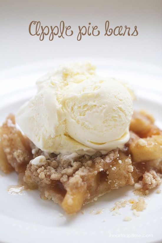 Delicious homemade apple pie bars ... just like apple pie with out all the work!