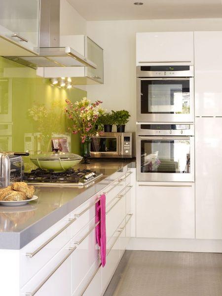 Interior decorator Alex Coomer's modern West London kitchen.
