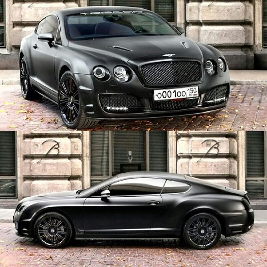 Blacked out Bentley Continental GT