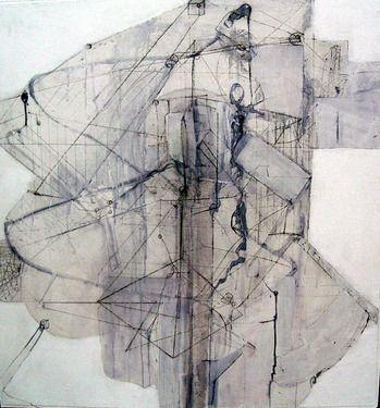 """Saatchi Online Artist Simis Gatenio; Painting, """"architectural system organism machine"""" #art"""
