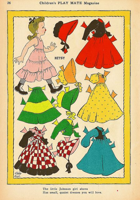 Vintage Paper Doll, Party Dress by shelece, via Flickr
