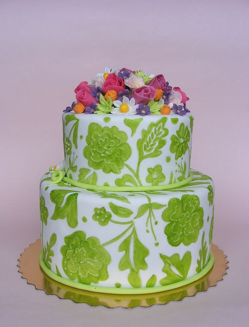 Bouquet cake by bubolinkata, via Flickr