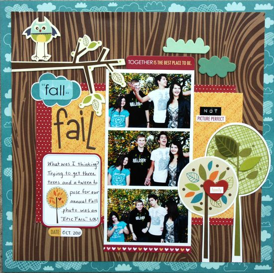 Fall Fail - Scrapbook.com - #scrapbooking #layouts #autumn #fall #bellablvd