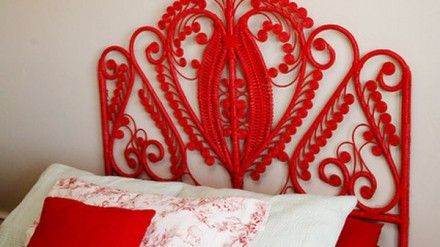 Red Wicker Headboard - Home Interior Decorating