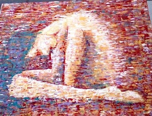 Sheltered painting - Christina Robertson