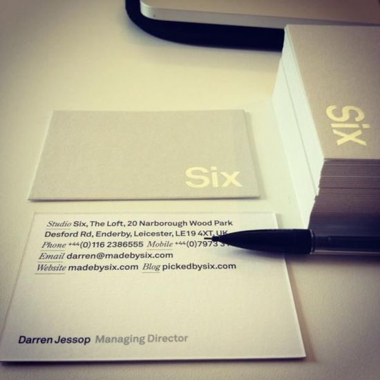 —Six business cards