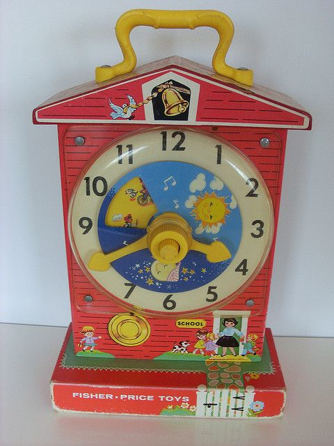 Favorite childhood toy #4- Vintage Fisher Price Schoolhouse Clock