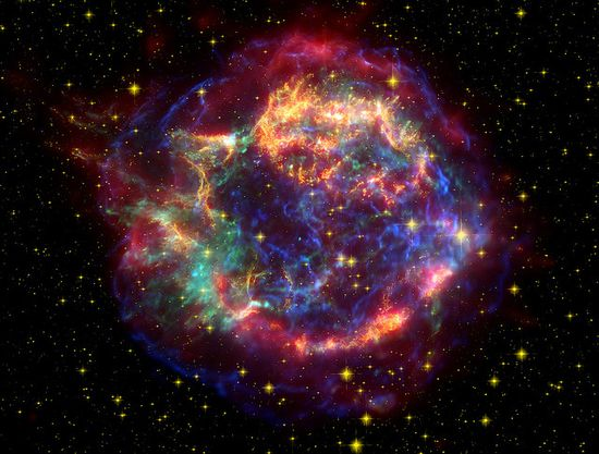 A 300-year-old supernova remnant created by the explosion of a massive star., via Flickr.