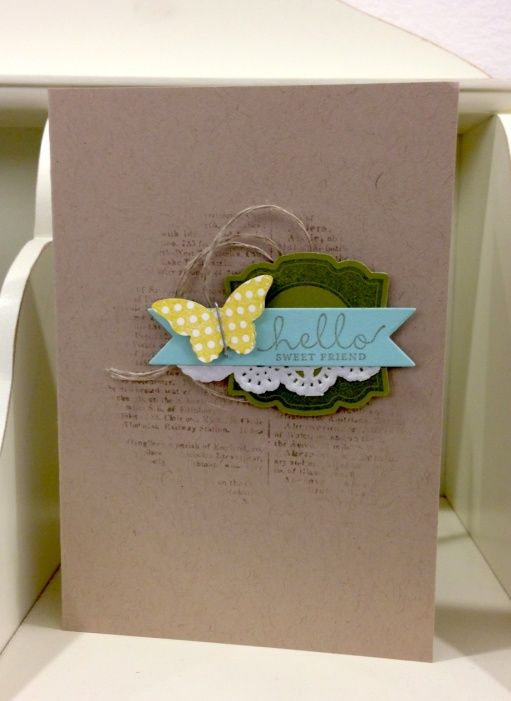 handmade card with punches