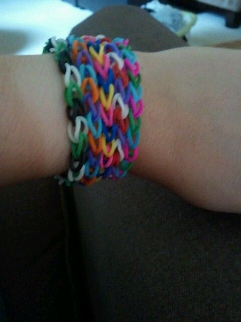 Awesome rubber band bracelets. All hand made!