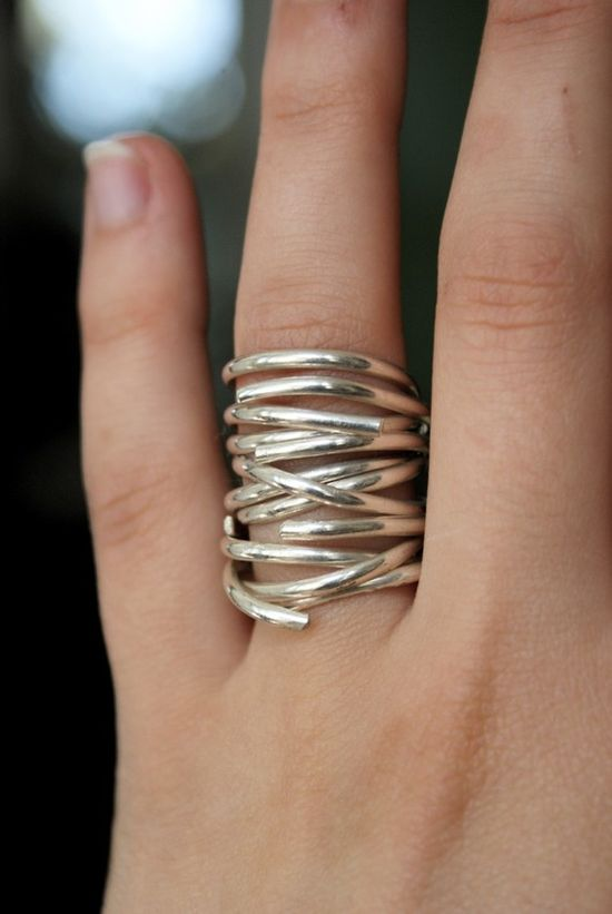 Going in Circles Sterling stacking ring set of 3 by hannahnaomi, $75.00