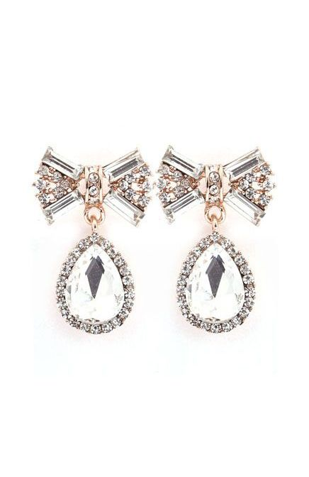Classic Crystal Bow Dangles
