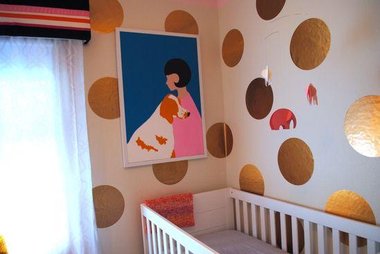modern baby girl room