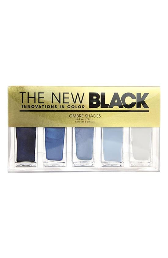'Horizons - Ombré Nail Shades' 5-Piece Set, The New Black