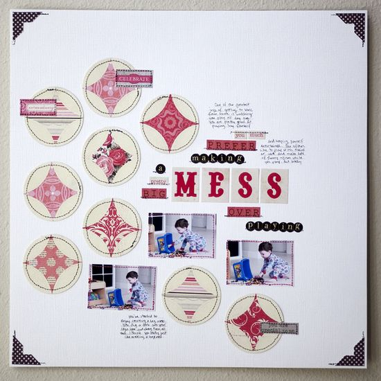 A really cool scrapbook page.