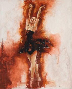 "Saatchi Online Artist Carlos Sanchez; Painting, ""Black Swan"" #art"