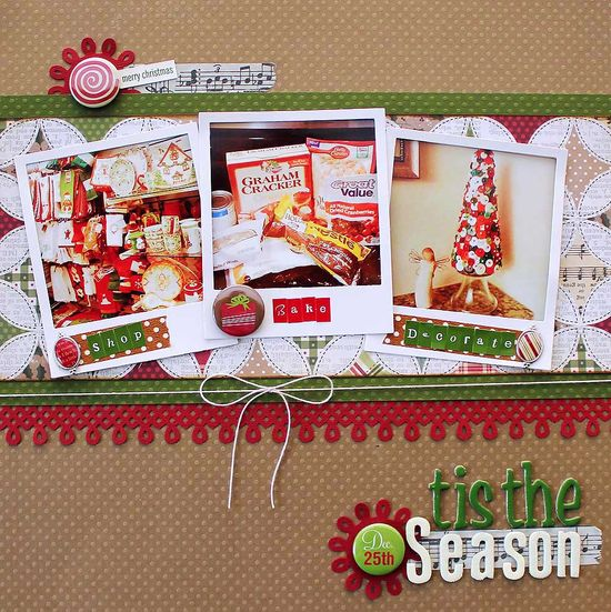 #papercraft #christmas #scrapbook #layout    Layout