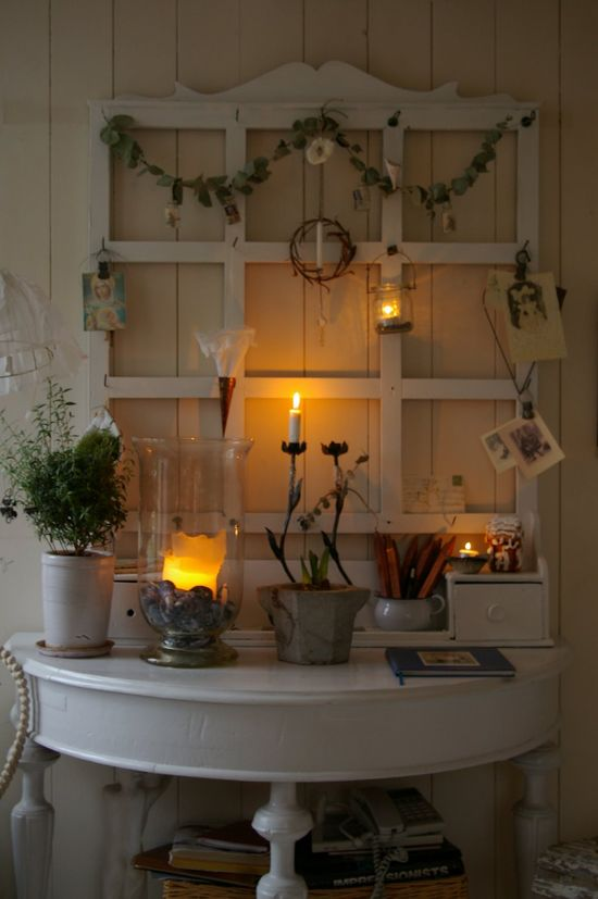 decorating with an old window ....