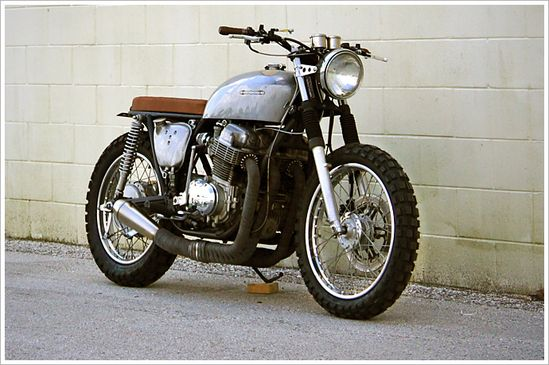 "Steel Bent Custom's CB 750 - a.k.a. ""The Brat."""