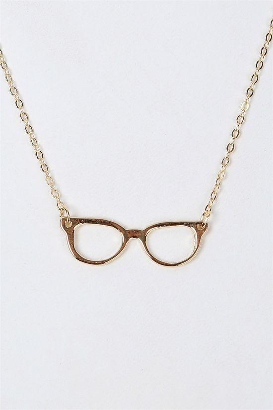Nerd Necklace in Gold