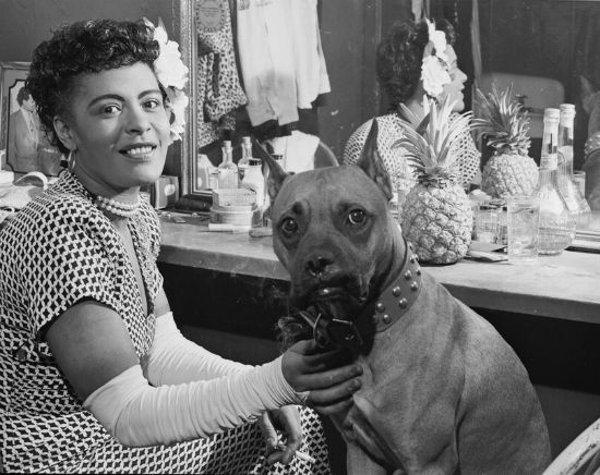 Billie Holiday & her Pit bull
