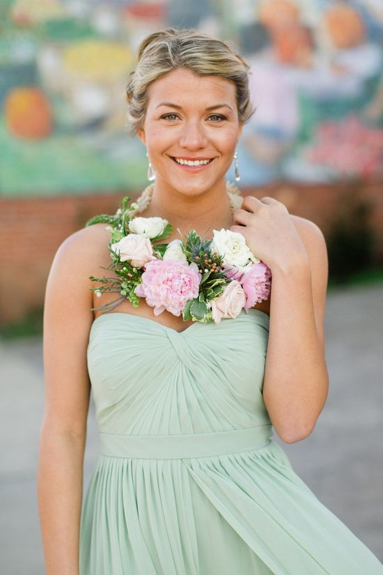 Maid draped in pretty florals. Farm + Factory Southern Styled Shoot from Gather Together