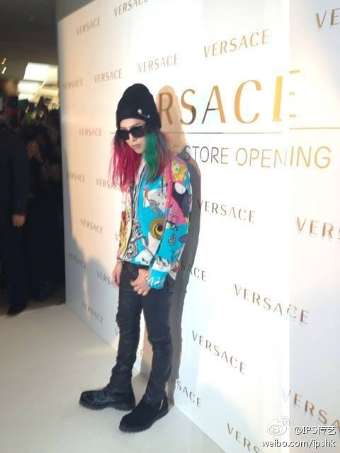 G-Dragon @ Versace Store Opening Event