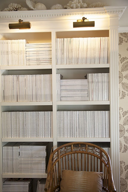 My magazine collection........oh to have so much neat space to keep them all.