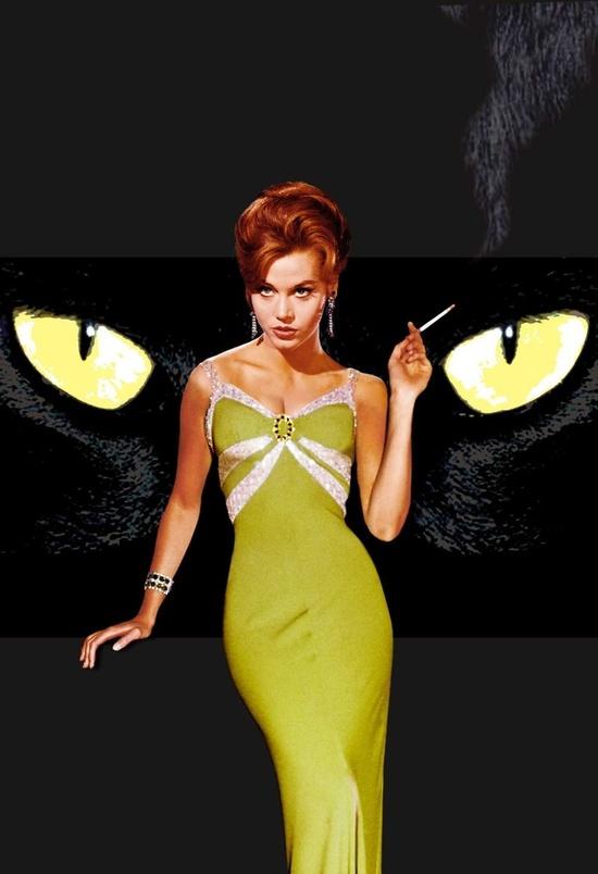 'Walk On The Wild Side', Movie Poster 1962, Jane Fonda #green