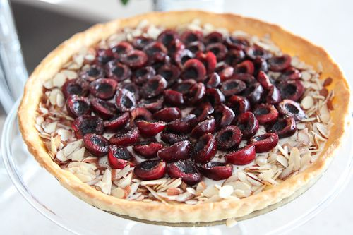 Bing Cherry and Goat Cheese Tart with Black Pepper