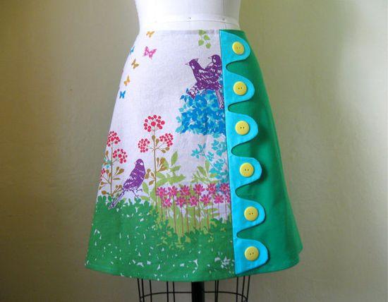 Spring Fling asymmetrical aline skirt