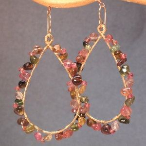 Luxe Bijoux 201 Hammered drop hoops with by CalicoJunoJewelry, $154.00