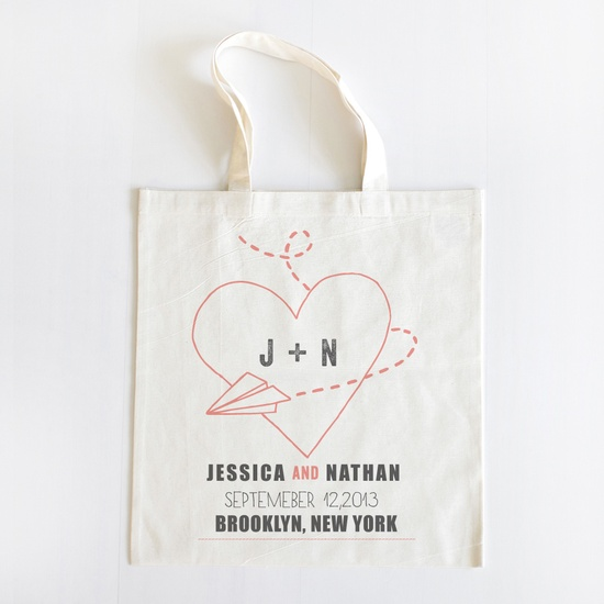 Paper Airplane Welcome Tote Set of 20